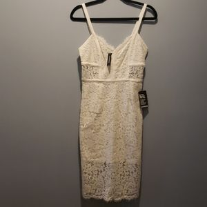 Express size 4 white lace dress